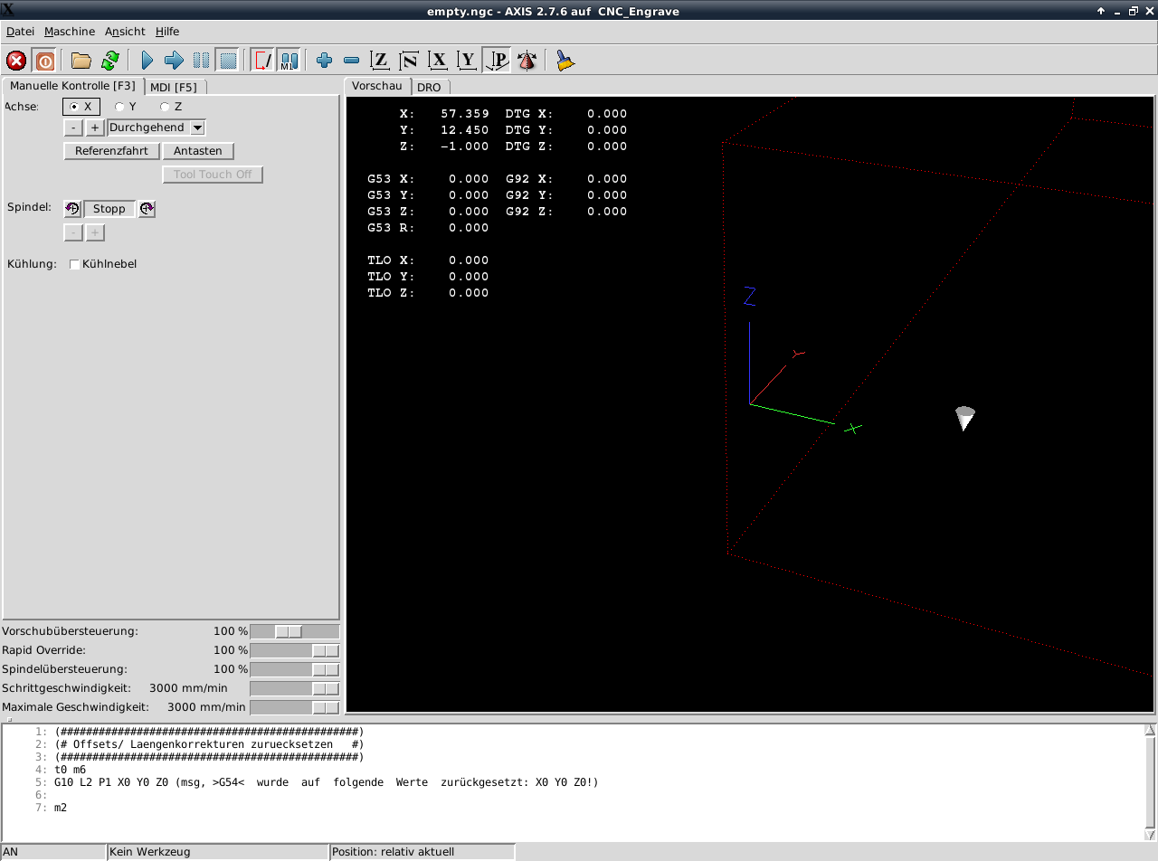 LinuxCNC Axis