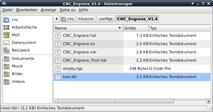 LinuxCNC Error Files