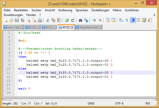 LinuxCNC MCodes If Then Else